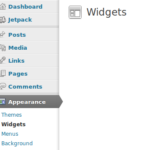 Wordpress widget stickies